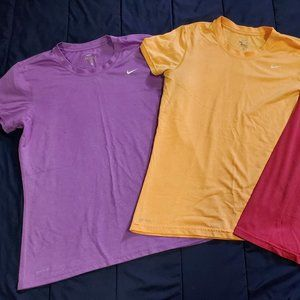 Lot of Nike Dri-Fit Workout tees Sz Large